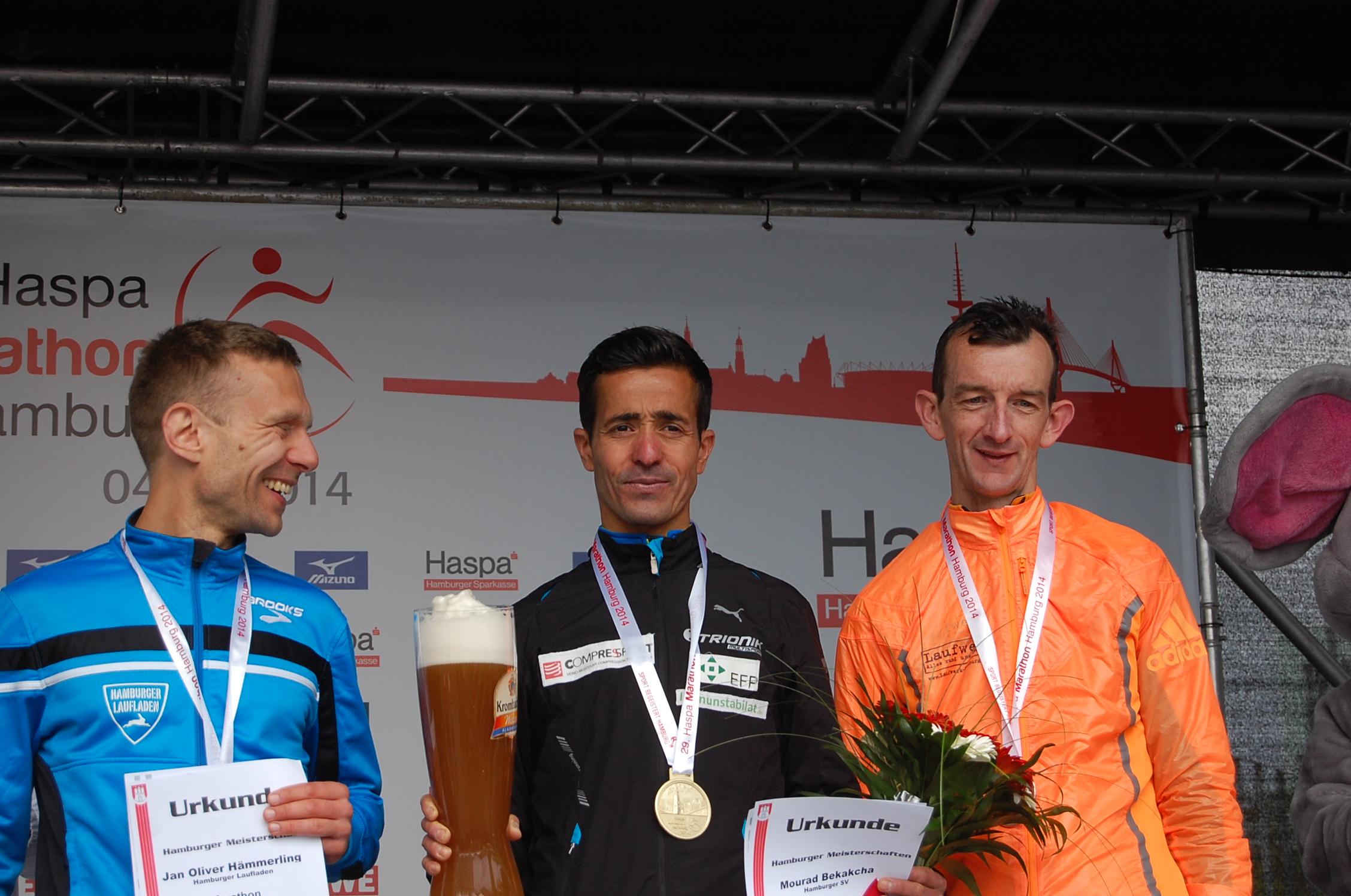 29. Haspa Marathon Hamburg: Siegerehrung Hamburger Meisterschaften